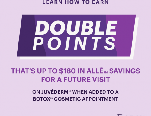 Raleigh Plastic Surgery Center is proud to be offering Double Points on Juvederm and Botox Cosmetic products through ALLE! Take care of the wrinkles and get the youthful look that you want today! Book your appointment with Jen, RN to get yours today! 919-872-2616. https://raleighplasticsurgery.com/