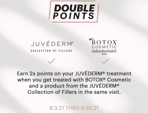 Earn double points for the month of September 0n Juvederm and Botox. Now is the time to schedule an appointment with Jen our RN. The phone number is 919-872-2616, and the website is raleighplasticsurgery.com.